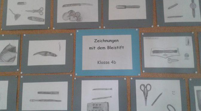 Kunst in Klasse 4: Zeichnungen mit dem Bleistift